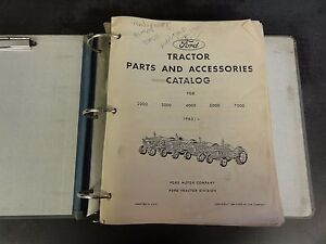 Ford 2000 3000 4000 5000 7000 Tractor Parts Accessories Catalog