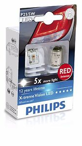 Philips X treme Vision 12899rx2 Led Red Rouge 1157 P21 5w Brake Light