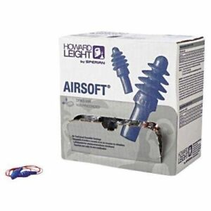 Howard Leight Airsoft Earplugs W Cord Special 100 Pair Box Ms92275