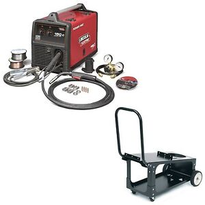 Lincoln Power Mig 180c Welder Pkg With Economy Cart k2473 2 K2275 1