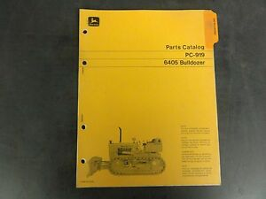 John Deere 6405 Bulldozer Parts Catalog Pc 919
