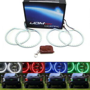 Rgbw Multi color Led Angel Eyes Halo Ring Lighting Kit For 07 14 Gmc Chevy Truck
