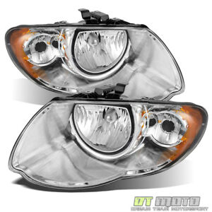 2005 2007 Chrysler Town Country Replacement Headlights Headlamps Left Right