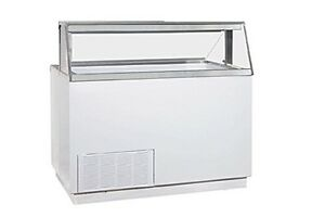 Global Refrigeration kelvinator Ice Cream Dipping Cabinet W Straight Front 12 C