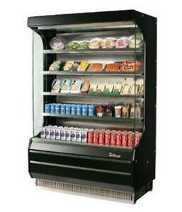 Turbo Air Tom 40 Vertical Open Display Case Cooler Full