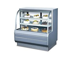 Turbo Air Tcgb 48 dr 48 inch Curved Glass Dry Bakery Display Case