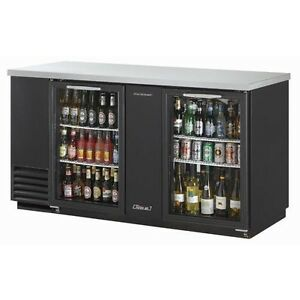 Turbo Air Tbb 3sg Refrigerated Back Bar And Counter Top Glass Doors
