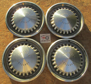 1969 Chrysler 300 15 Wheel Covers Hubcaps Set Of 4 no Reserve look