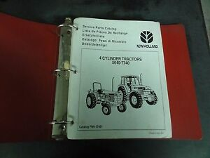 Ford 4 cylinder Tractors 5640 7740 Service Parts Catalog Fnh 17451