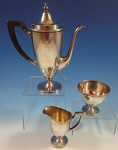 Windham By Tiffany And Co Sterling Silver Tea Set 3pc 1369
