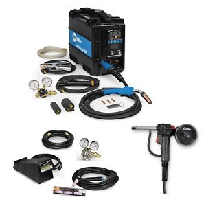 Miller Multimatic 200 Mig Tig Stick Welder Pkg W Spool Gun 951649 300371