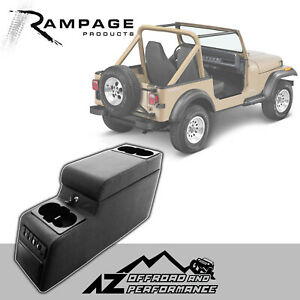 Rampage Locking Center Console 76 95 Jeep Cj 7 Wrangler Yj 31515 Denim Black