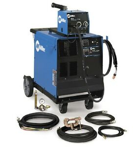 Miller Cp 302 Mig Welder With Wire Feeder Accessory Package And Cart 951230