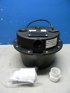 Little Giant Submersible Sump Pump System 1 3 Hp 1 1 2 Outlet Wrsc 6