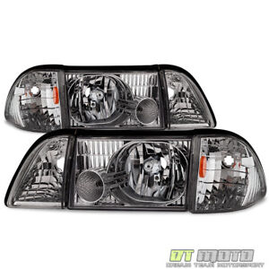 6pcs 1987 1993 Ford Mustang Factory Style Headlights Replacement Left right Pair
