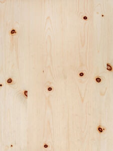 Knotty Pine Wood Veneer Plain Sliced Wood On Wood Backer Backing 4 X 8 Sheet