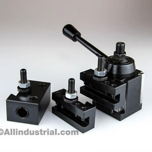 4 Pc Oxa Wedge Tool Post Intro Set For Mini hobby Lathes Quick Change Tooling