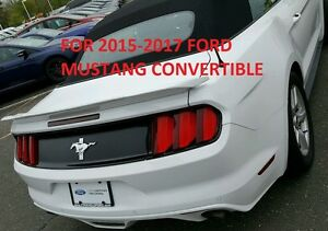For 2015 2020 Ford Mustang Convertible track package Grey Primer Spoiler
