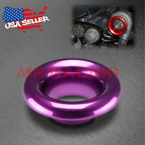 3 5 Purple Short Ram Cold Air Intake Turbo Horn Aluminum Velocity Stack Adapter