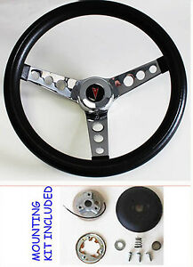 Pontiac Firebird Trans Am Lemans Grant Steering Wheel Black 13 1 2