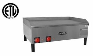 New 32 Deluxe Electric Griddle Grill Uniworld Ugr2e 4527 Commercial Restaurant