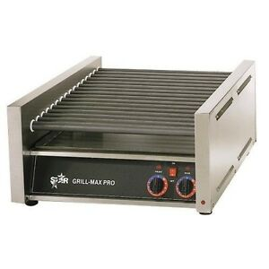 Star Mfg Grill max Non stick 50 hot Dog Roller Grill