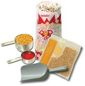 Popcorn Starter Kit For 6 Oz Pop Corn Popper Machines