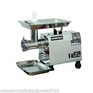 New Electric Meat Grinder Attachments Uniworld Tc 32e 4543 Commercial 2 Hp