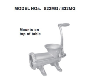 New Manual Meat Grinder 32 Uniworld 832mg 4611 Commercial Hand Crank Table