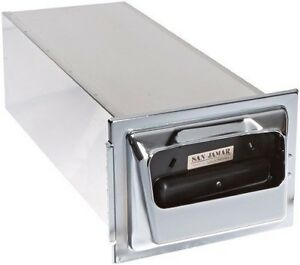 San Jamar H2001 Stainless Steel In counter Fullfold Classic Napkin Dispenser 75