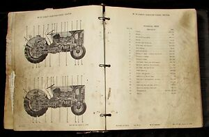 Massey Ferguson 65 Direct Injection Diesel Tractor Parts Catalog