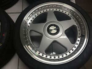 18 Avant Garde M240 Staggered Silver Wheels Rims Tires Fits Acura Rsx Tsx