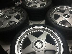 18 Avant Garde M240 Staggered Silver Wheels Rims Tires Fits Mazda3 Mazda6