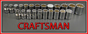 Craftsman Hand Tools 23pc 12pt 1 2 Sae Metric Mm Ratchet Wrench Socket Set