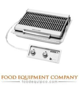Wells B 406 Charbroiler Built in Electric Cast Iron Grate 25 w