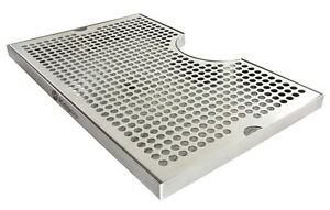 Kegco Seco 1610d 16 X 10 Surface Mount Drip Tray With Drain 3 Cut out