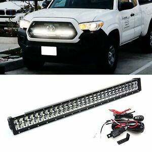 180w 30 Led Light Bar W Behind Grill Bracket Wirings For 16 up Toyota Tacoma
