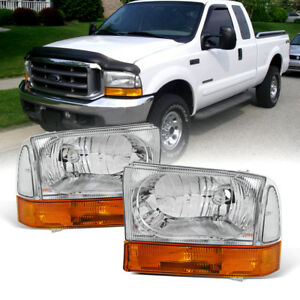 1999 2004 Ford F250 F350 F450 Superduty Excursion Headlights W amber Bumper Lamp