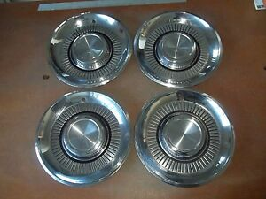 1959 59 Lincoln Hubcap Rim Wheel Cover Hub Cap 14 Oem Used Set 4