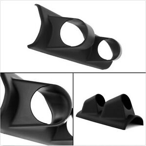 Universal 2 52mm Abs Dual Hole Pillar Gauge Pod Mount Holder Carbon Fiber