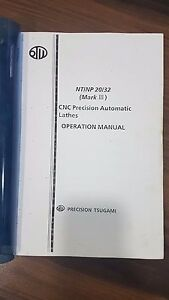 Tsugami Nt np 20 32 Mark 3 Operation Electrical Manual