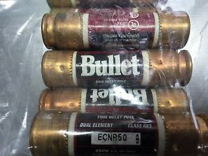 Ecnr50 50 Amp Time Delay Fuse 250v Qty Of 11 Fuses