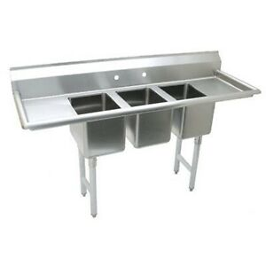 Stainless Steel Convenience Store Sink With 3 Compartment