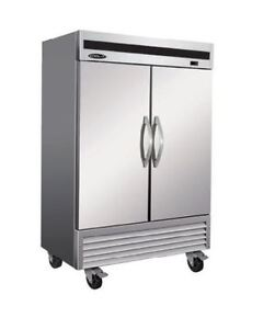 Kool it Ikon Kb54f 46 9cf 2 door Stainless Steel Commercial Reach in Freezer New
