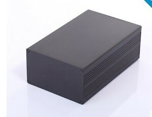 Black Diy Aluminum Project Box Enclosure Electronic Instrument Case 200x127x75mm