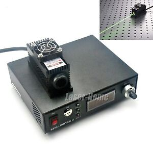 532nm 100mw Green Laser Dot Module Ttl analog Tec Power Supply Ad