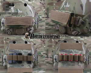 Fast Helmet Accessory Pouch with Loop Attachment and Hook for CR123A Battery