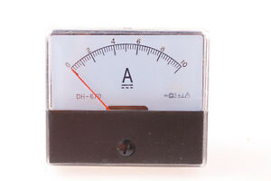 Rectangle Analog Amp Current Panel Meter Gauge Dc 10a Dh 670