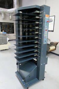 C p Bourg Bst 10d Cd Air feed 10 bin Collator Sold For Parts