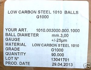 90 000 3mm 1 8 Low Carbon Steel Ball Bearing Balls